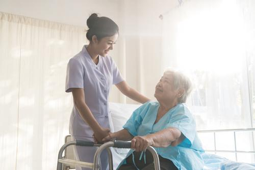 Home care in Derbyshire. domiciliary care. Care for the elderly, mentally and physically disabled. Elderly asian woman.